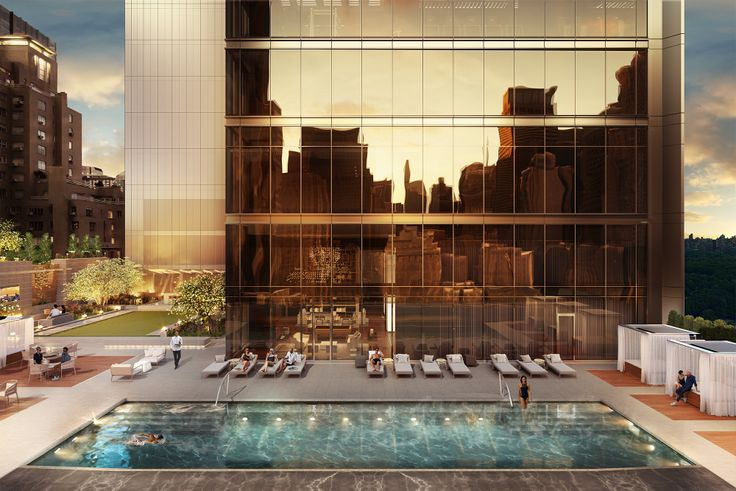 All rendering of Central Park Tower via Extell