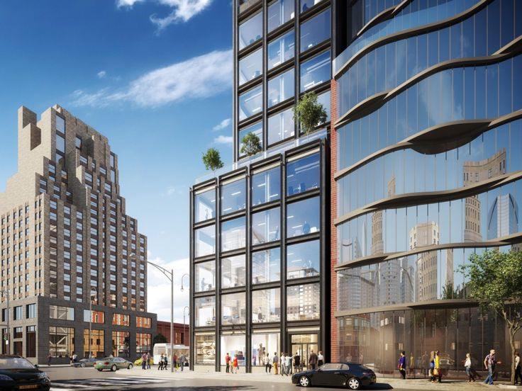 rendering of 76 Eighth Avenue from the southwest (Credit: Plus Development)