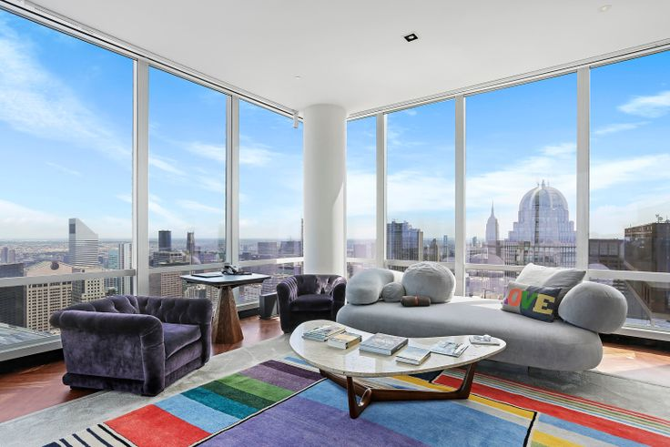 Photo of One57's unit #77, a 4-bedroom listed for $49 million (Compass)