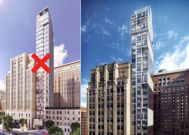 L: Second Development Services' condo plan for 88 Schermerhorn. R: Motto by Hilton rendering via Danny Forster & Architecture