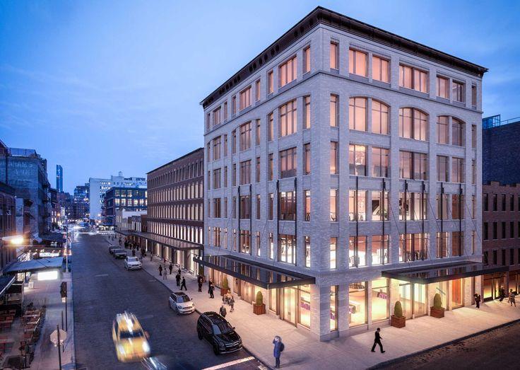 Rendering of 70-74 Gansevoort Street, part of Gansevoort Row, via BKSK Architects