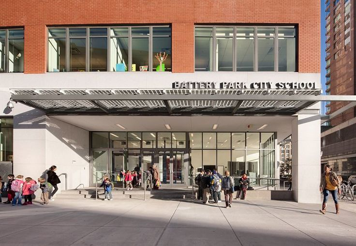 Photo of the Battery Park School via Dattner Architects