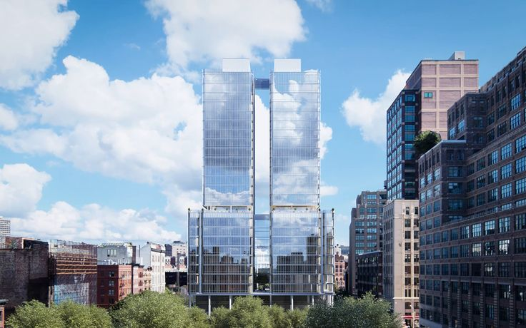 Rendering of 565 Broome Street (Renzo Piano Building Workshop)