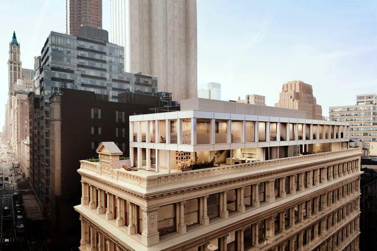Cast Iron House's penthouse; Renderings Courtesy Hayes Davidson