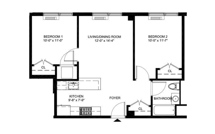 Stuy Town 2 Bedroom Floor Plan: Boaz Gilad's Bed-Stuy Rental 'Marci' Offering No Fee 2