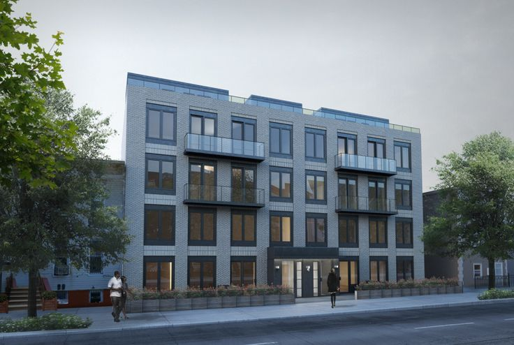 Rendering of 1164 and 1168 Greene Avenue in Bushwick (Credit: Andy McGee Design)