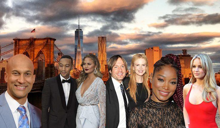 (l-r) Keegan-Michael Key, John Legend, Chrissy Teigen, Keith Urban, Nicole Kidman, Keke Palmer, and Jennifer Lawrence made some of the year's top celebrity purchases.