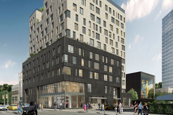 A rendering of Caesura, a mixed-use rental building under construction at 280 Ashland Place in Downtown Brooklyn. (Dattner Architects / Bernheimer Architecture)