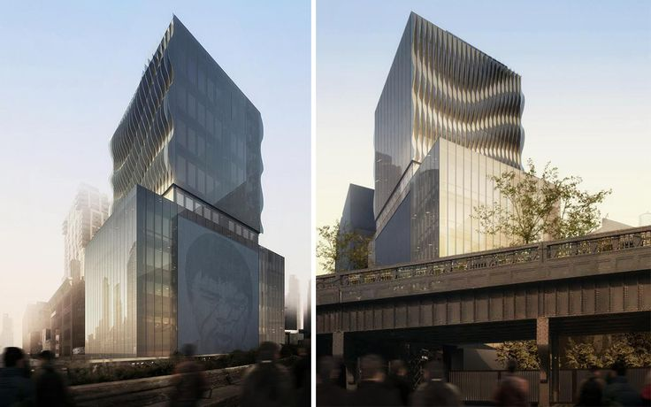 515 High Line's glassy exterior will feature a ripply design as well as a 65x45 block slated for artwork.