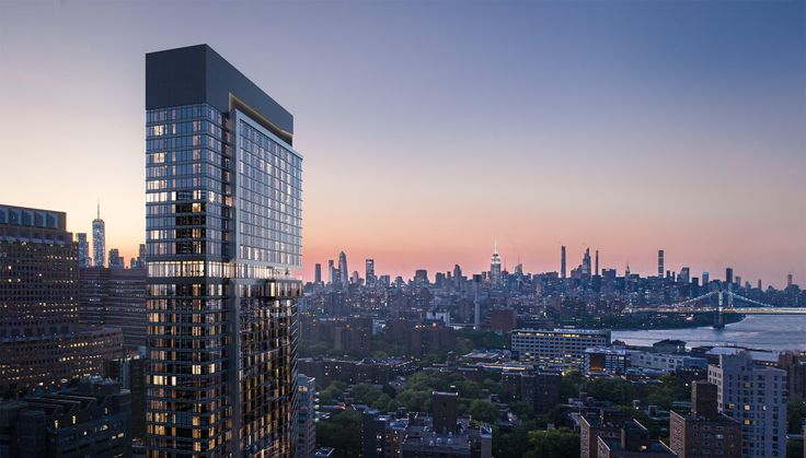 Renderings showing The Willoughby and its sweeping views of the East River, Manhattan, and Brooklyn (via willoughbybk.com)