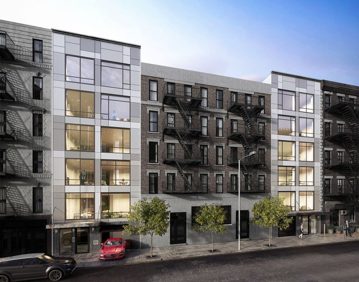 New rendering of 442 and 436 East 13th Street (The Amiran Group)