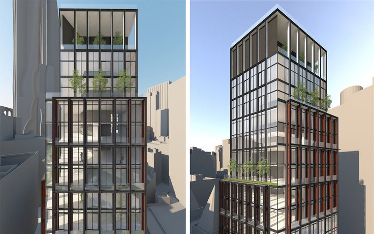 New renderings reveal One Beekman's contemporary design and glass facade.