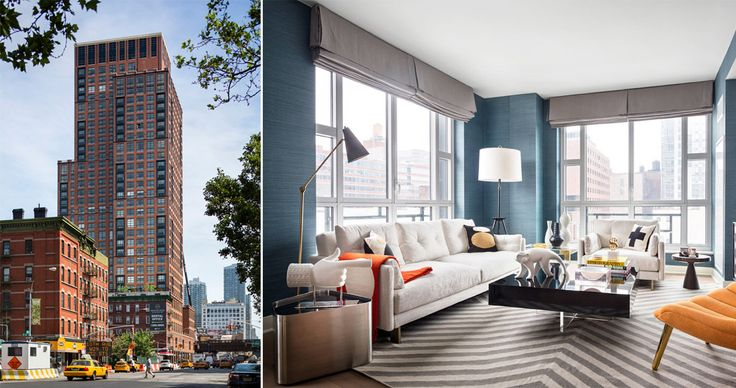 The solid 33-story redbrick Abington House overlooks the High Line. Related is now offering a $1,000 gift card upon leasing.