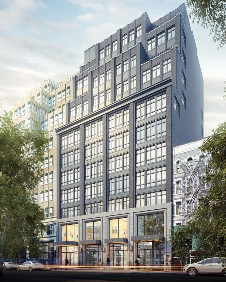 Rendering of Society House at 335 West 35th Street near Hudson Yards (Issac-Stern Architects)