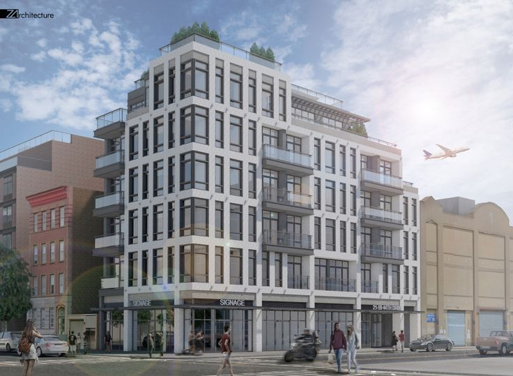 All renderings of 21-59 44th Drive via Z Architecture