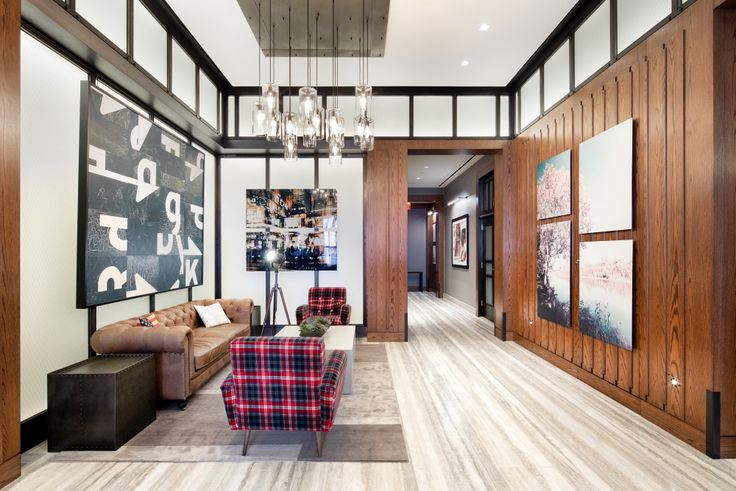 A shared amenity space at EVGB by McGinley Design
