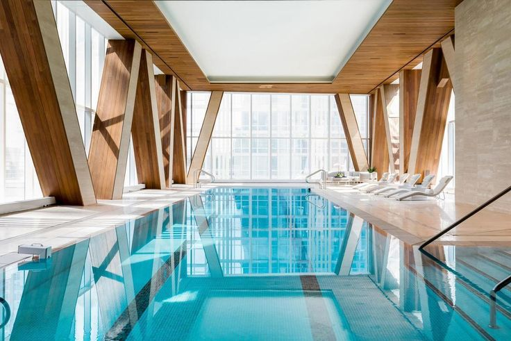 Cantilevering pool at One West Avenue on the Upper West Side (Compass)