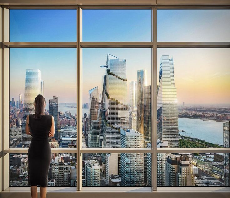 Rendering showing future view south from Manhattan View