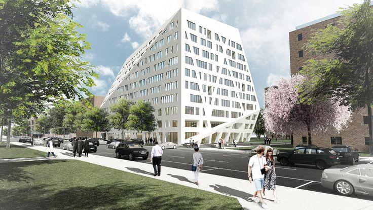 Rendering of the Sumner Houses Senior Building, courtesy of the Architect, Studio Libeskind (via Dezeen)