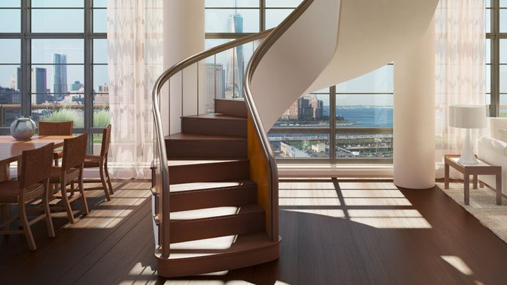 Staircase, 150 Charles Street, Condo, Manhattan, NYC