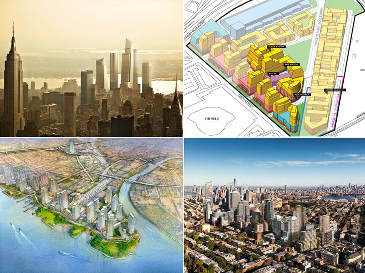 Among the city's dozens of master plans expected to bring thousands of new apartments: Hudson Yards, Willets Point, Pacific Park, and Hunters Point South