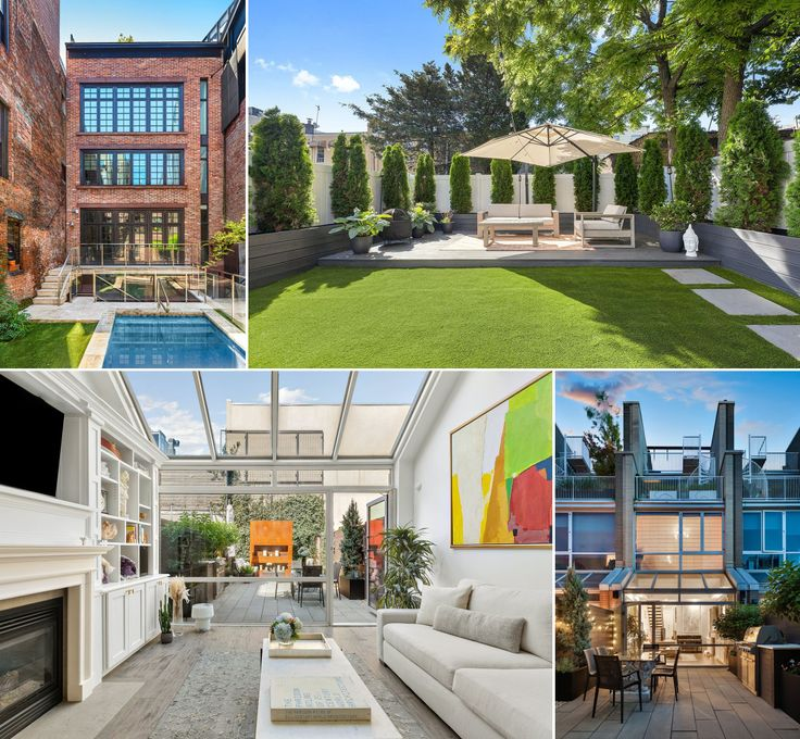 Various available townhouses throughout NYC with great backyards