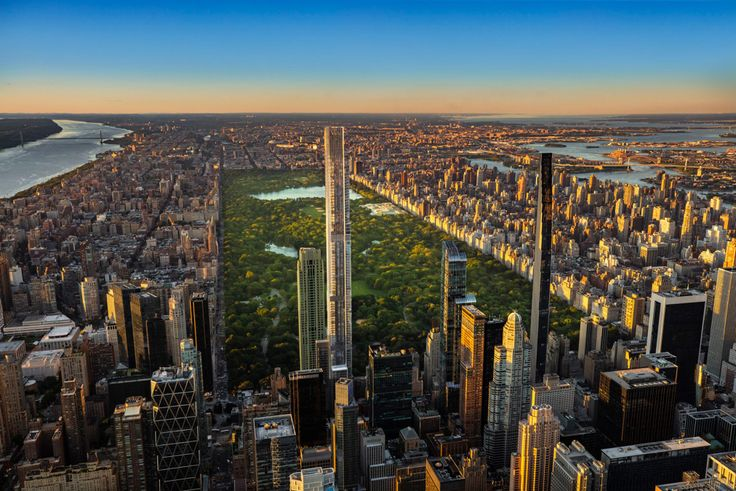 Central Park Tower and the Billionaires' Row skyline (Extell Development Company)