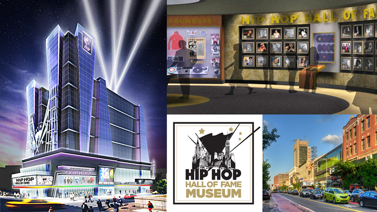 Rendering via Hip-Hop Hall of Fame Museum via Bluebox Entertainment