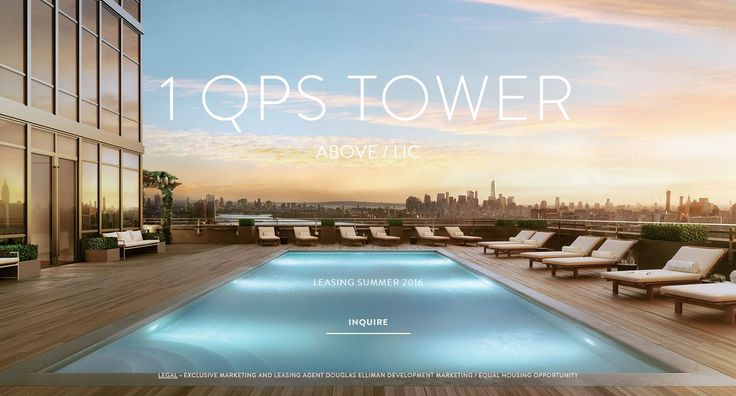 A rendering of the rooftop pool. At 475 feet in the air, it will be among the highest pools in the city.
