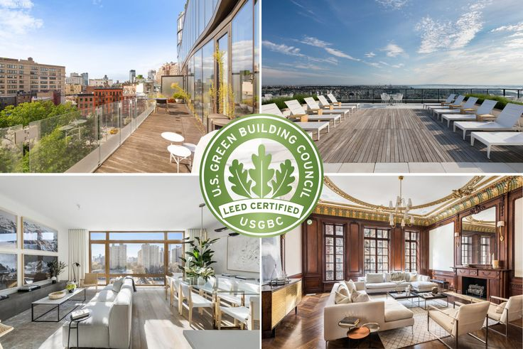 Residential spaces in various LEED and Passive House standard buildings in NYC