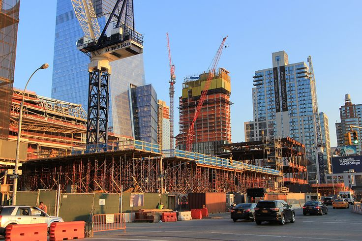 530 West 30th Street (background-center) has officially topped off its 33 residential floors