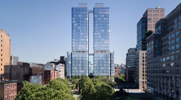 Renzo Piano's first NYC residential project at 565 Broome Street; Douglas Elliman