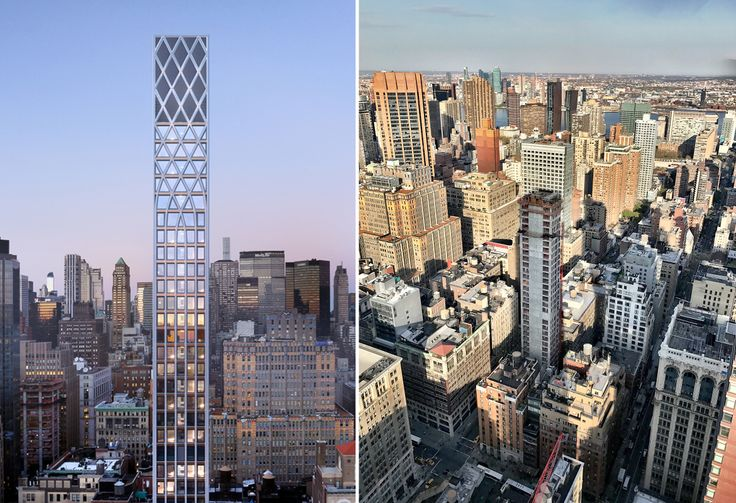 Morris Adjmi's uniquely latticed tower nears completion on its exterior height and design.