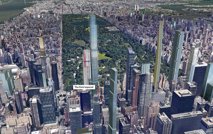 Google Earth aerial showing The Park Imperial in context with future towers (CItyRealty)