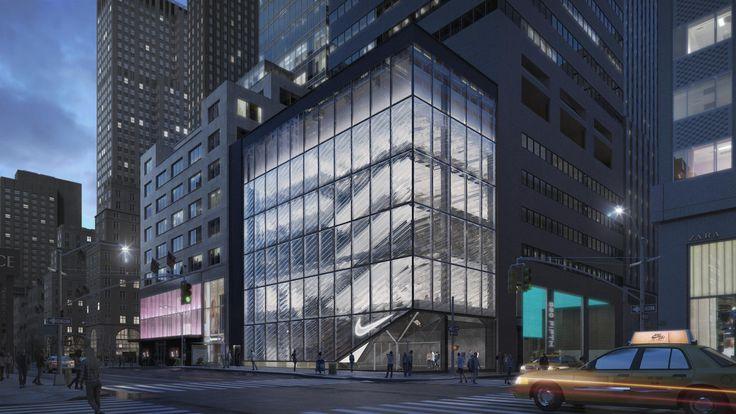 Nike Fifth Avenue Flagship rendering via Nike