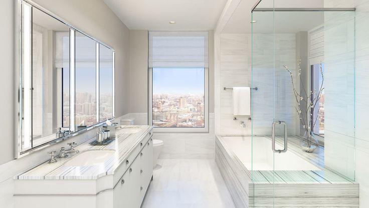 Bathroom, 30 Park Place, Condo, Manhattan, NYC