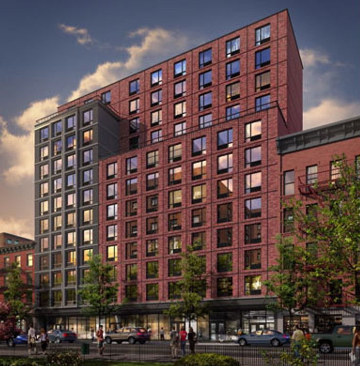 If built, The Frederick would host 75 affordable housing units and a larger, redeveloped Bravo Supermarket. (Image via JCAL)