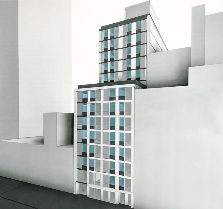 Rendering at the 232 East 54th Street construction site (CityRealty)