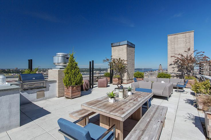 Roof deck at The Windermere via Stellar Management