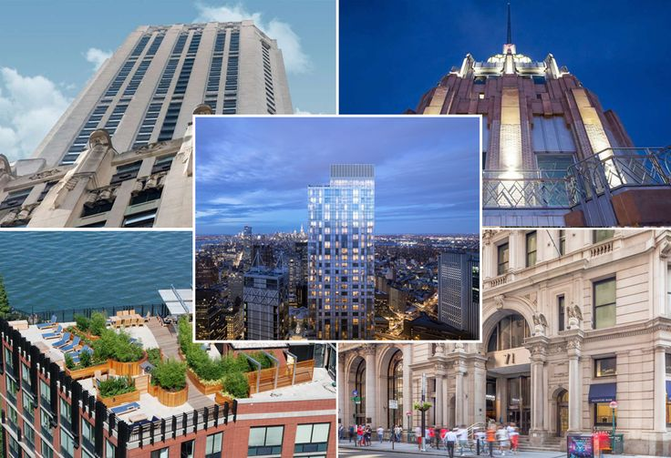 Compilation of rental buildings in the Financial District/Battery Park City