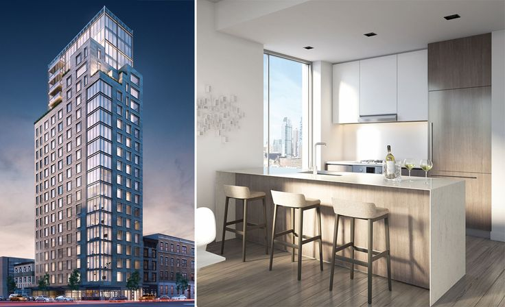 The building's website is newly launched, and seven of the building's 73 units are now for sale. Rendering: The Naveh Shuster Group