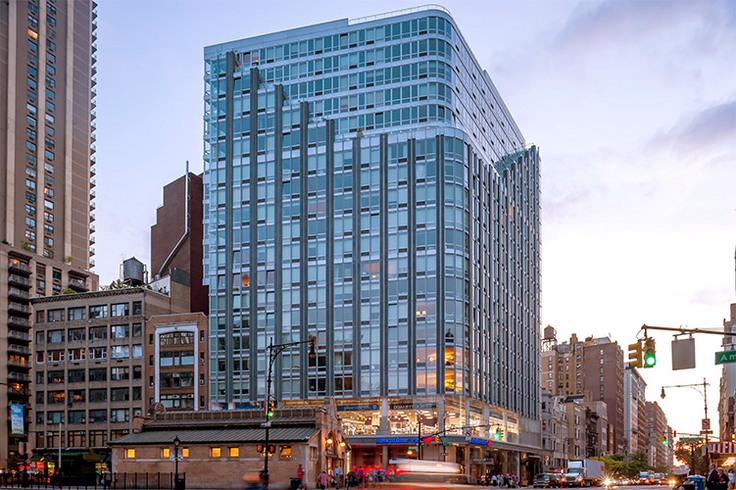 The Corner at 200 West 72nd Street on the Upper West Side opened in 2010 and was designed by Handel Architects. (Image via Handel Architects)