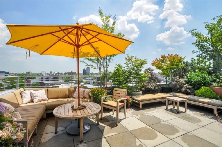 Private rooftop terrace and garden at 415 Leonard Street