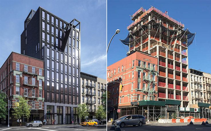 The new Lower East Side condo at 287 East Houston Street has topped out. (AA Studio/ CityRealty)