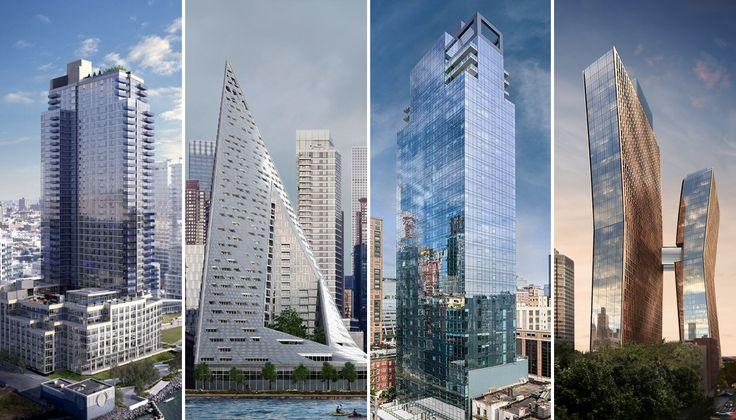 L to R: Level, VIA 57 West, 507 West Chelsea, American Copper Buildings
