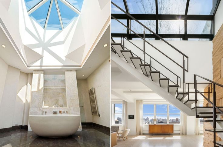 Incredible skylit spaces in two available lower Manhattan penthouses