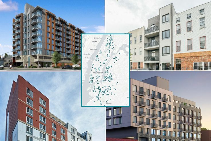 Collage of new developments with affordable housing