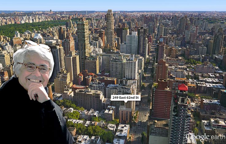 Google Earth aerial of the Upper East Side; Photo of Rafael Vinoly via WIkipedia