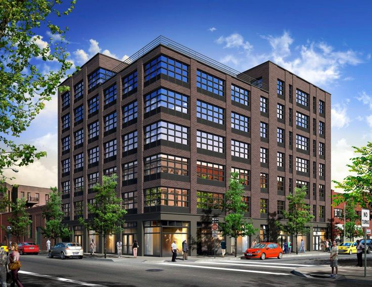 A new mixed-use rental building will soon debut at 66 Ainslie Street in East Williamsburg. (Image via Slate Property Group)