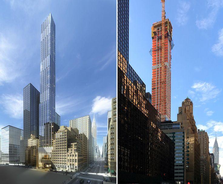 Rendering via Ceruzzi Properties, Construction photo taken mid-October by CityRealty